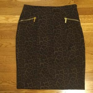 Michael Kors animal print skirt
